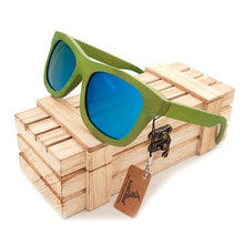Load image into Gallery viewer, Green Bamboo Sunglasses