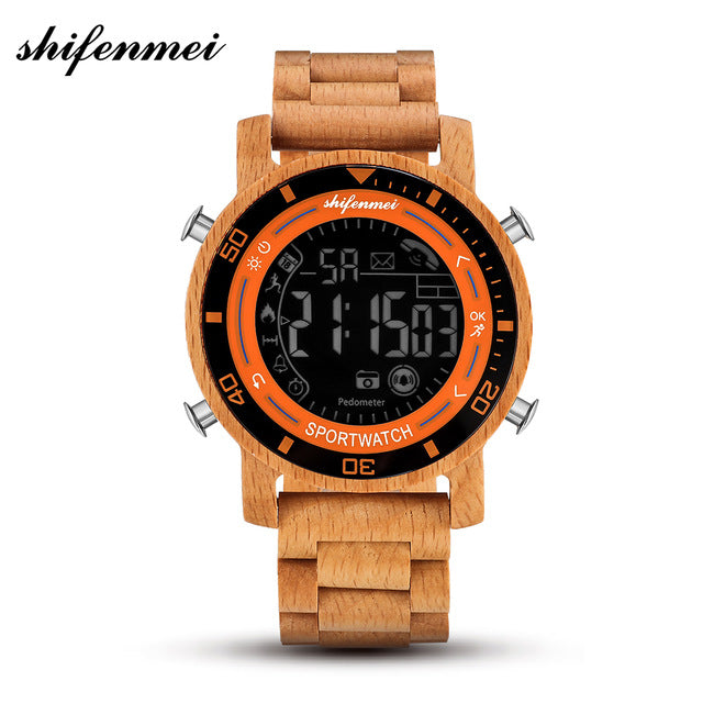 Sports Digital Watch Calculated Steps Information Reminder