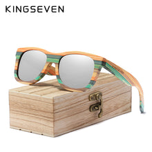 Load image into Gallery viewer, Retro Bamboo Polarized Sunglasses