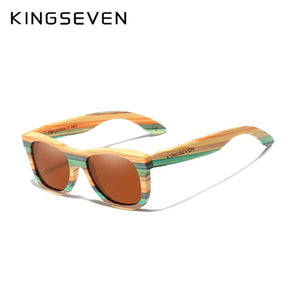 Retro Bamboo Polarized Sunglasses