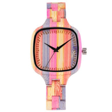 Load image into Gallery viewer, Unique Colorful Wood Women's Watch