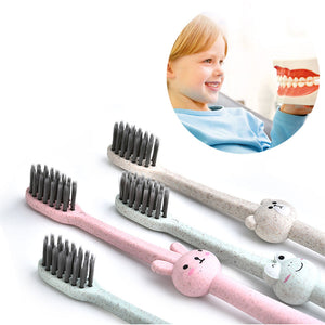 Anti Slip Handle Bamboo Charcoal Random Color Children Toothbrush