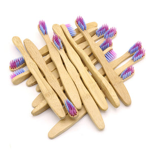 DR.PERFECT  100 Pcs Child Mixed Color Bamboo Toothbrush