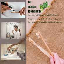 Load image into Gallery viewer, 10pcs eco-friendly Bamboo Toothbrush
