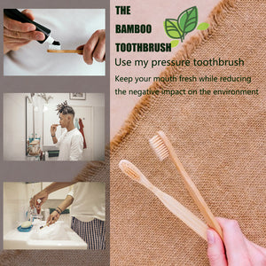10pcs eco-friendly Bamboo Toothbrush