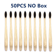 Load image into Gallery viewer, 50 Pcs/lot Natural Bamboo Toothbrush