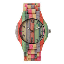 Load image into Gallery viewer, Unique Colorful Bamboo Watches