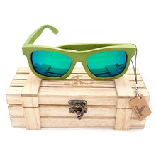 Load image into Gallery viewer, Bamboo Polarized Fashion Summer Style in wood Box