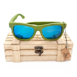 Bamboo Polarized Fashion Summer Style in wood Box