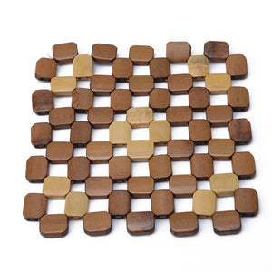 Square Bamboo Desk Table Mats