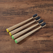 Load image into Gallery viewer, Cone Shape 4-Pack Softs Bristle Natural Bamboo
