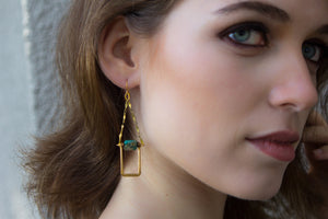 Cayucos Simple Earrings - Isobell Designs - Earrings - handmade-jewelry-california-minimal-delicate-jewellery.