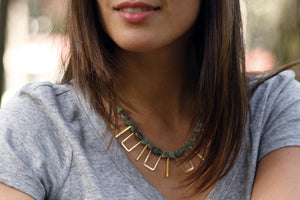 Cayucos Statement Necklace  | Sea Sediment Jasper