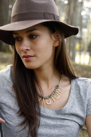 Cayucos Statement Necklace ▬ Sea Sediment Jasper - Isobell Designs