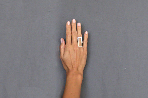 Bold Rectangle Ring - Isobell Designs - Rings - handmade-jewelry-california-minimal-delicate-jewellery