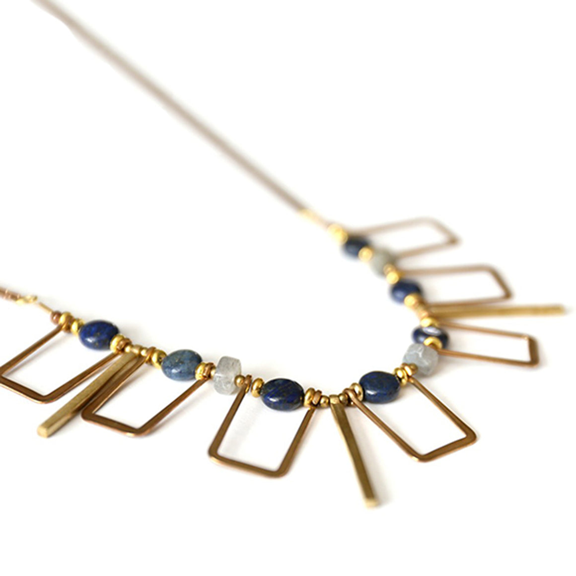 Cayucos Statement Necklace | Lapis Lazuli - Isobell Designs - Necklace - handmade-jewelry-california-minimal-delicate-jewellery.