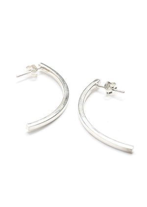 Curved Line Post Earrings - Isobell Designs