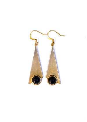 Slender Triangle Earrings - Isobell Designs