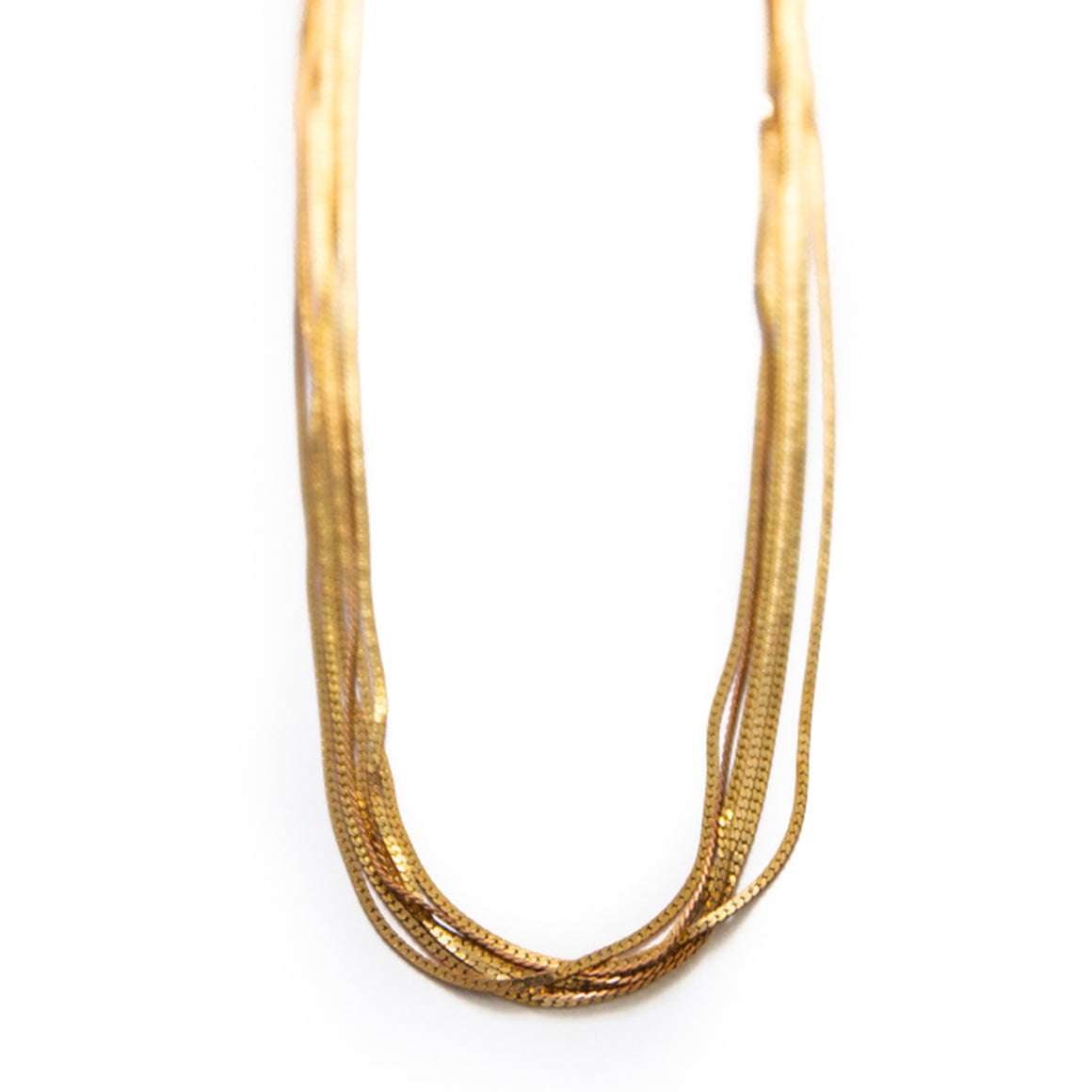 Golden Fox Tail Necklace - Isobell Designs