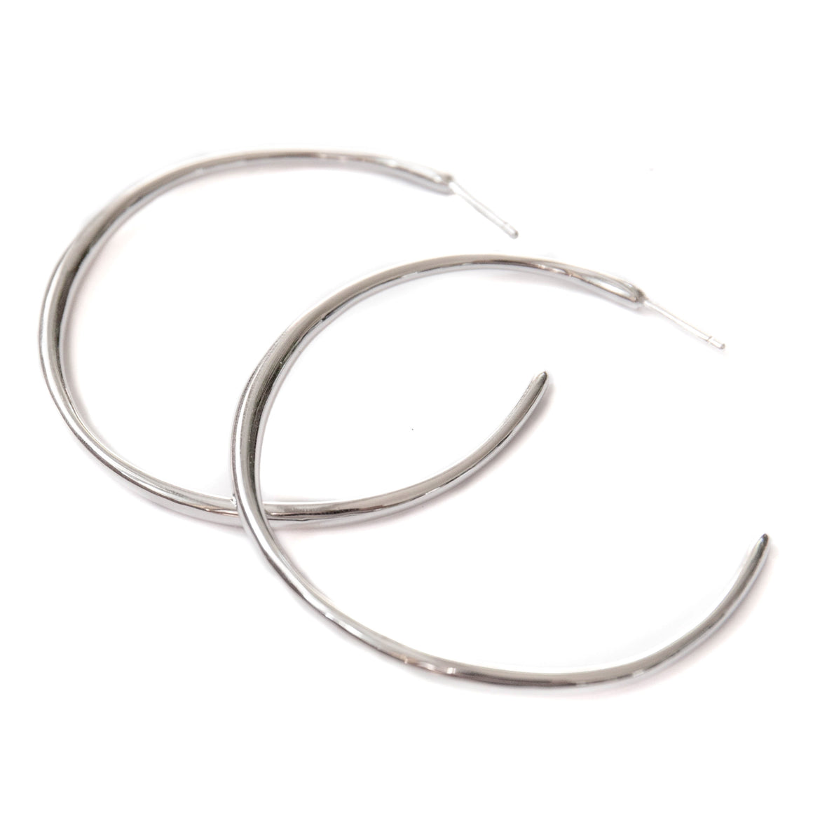 Cala Hoop Earrings  | Silver - Isobell Designs - Earrings - handmade-jewelry-california-minimal-delicate-jewellery.