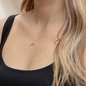 Tourmaline Cove Necklace  | Gold