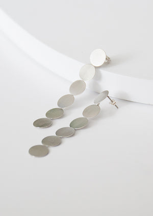 Meara Circle Earrings ▬ Silver - Isobell Designs