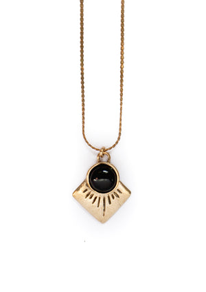 Marisol Necklace ▬ Brass - Isobell Designs
