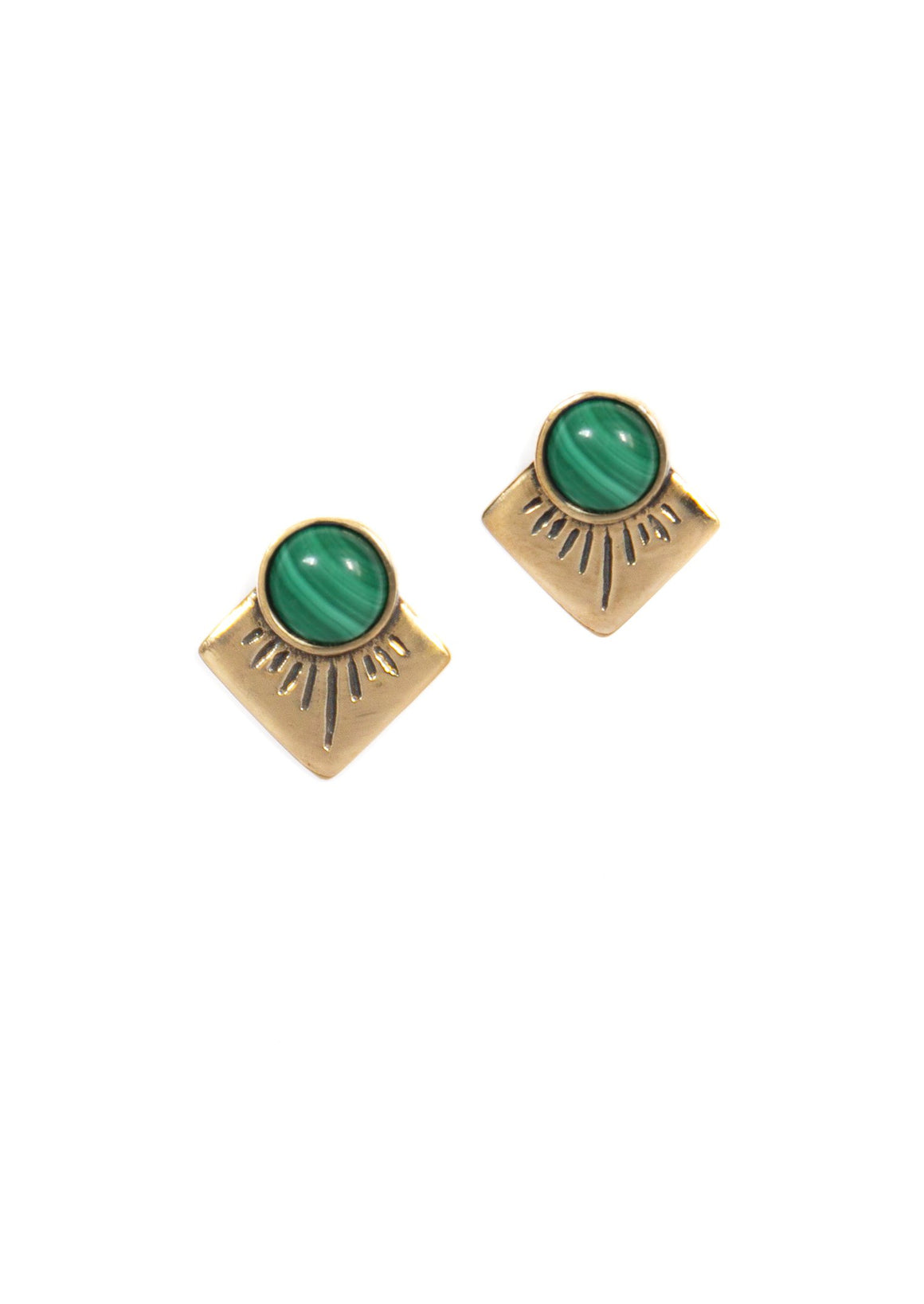 Marisol Stud Earrings ▬ Brass