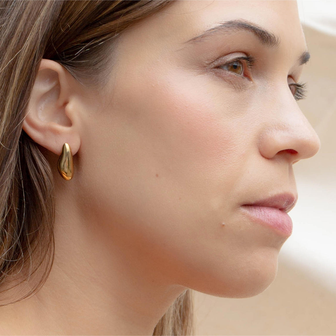 Pebble Studs | Gold