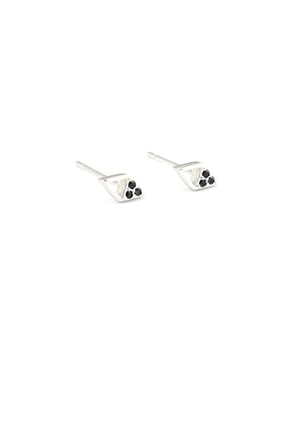 Tavia with Black Stud Earrings - Isobell Designs