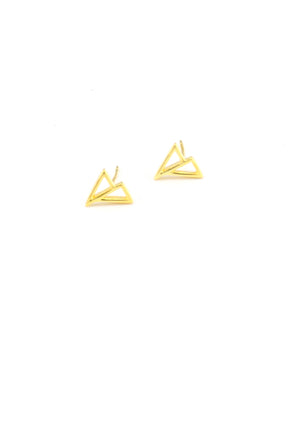 Cavo Triangle Stud Earrings - Isobell Designs - Earrings - handmade-jewelry-california-minimal-delicate-jewellery.