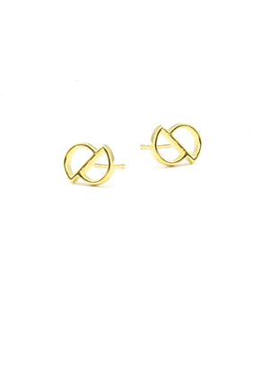Cavo Circle Stud Earrings - Isobell Designs