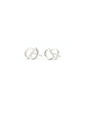 Cavo Circle Studs  | Silver - Isobell Designs - Earrings - handmade-jewelry-california-minimal-delicate-jewellery.