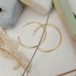 Cala Hoops  | Gold - Isobell Designs - Earrings - handmade-jewelry-california-minimal-delicate-jewellery.