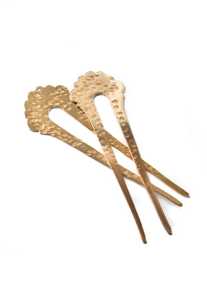 Scalloped Hair Pin - Isobell Designs