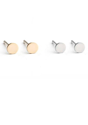 Circumference Stud Earrings - Isobell Designs - Earrings - handmade-jewelry-california-minimal-delicate-jewellery.