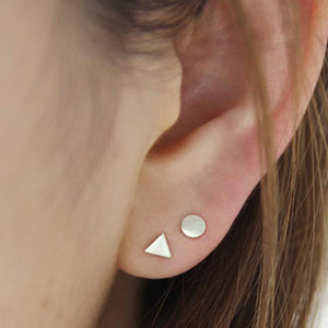 Equilateral Stud Earrings - Isobell Designs - Earrings - handmade-jewelry-california-minimal-delicate-jewellery.