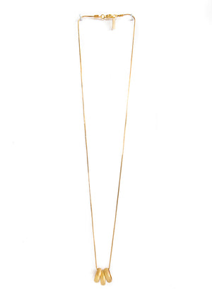 Three Gold Rings Necklace - Isobell Designs