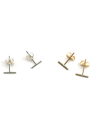 Tiny Line Stud Earrings - Isobell Designs