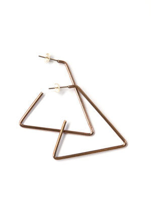 Open Triangle Hoops - Isobell Designs