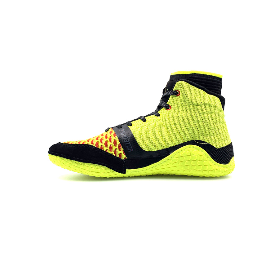 Yellow Predator Pro Wrestling Shoes