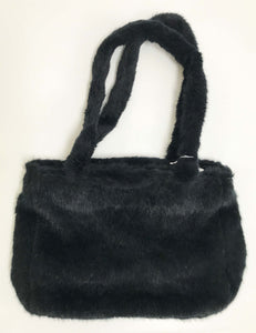Jeannie Lottie Fun Faux Fur medium Black bag