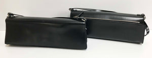 Jeannie Lottie Black long lean evening bag