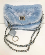 Load image into Gallery viewer, Faux fur small clutch with shoulder strap