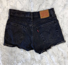 Load image into Gallery viewer, Levis Black Denim Shorts- size S