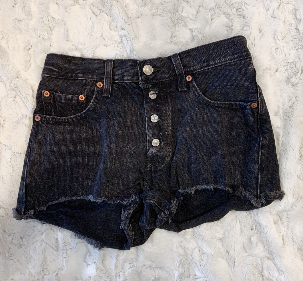 Levis Black Denim Shorts- size S