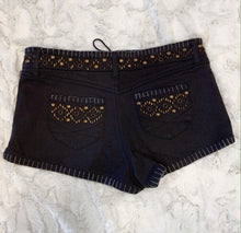 Load image into Gallery viewer, Topshop Black Denim Shorts- size S