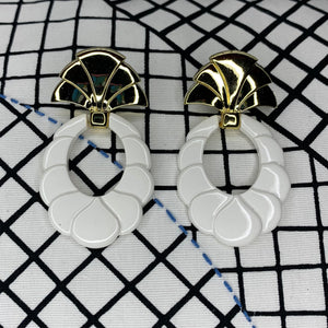 1980s Art Deco Style Earrings