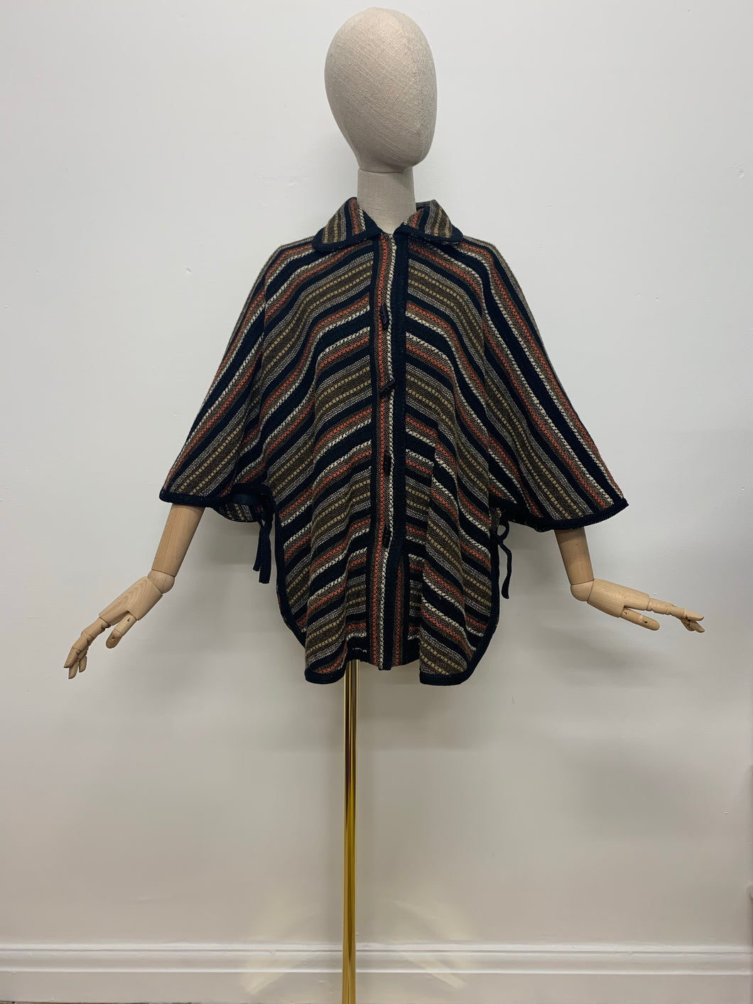 1970s Striped Cape