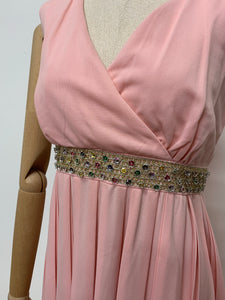 Blanes Pink Pleated Dress